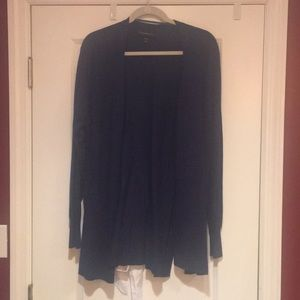 Navy blue cardigan with white tie bow back